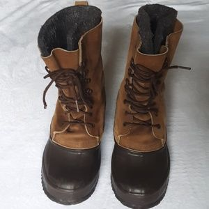 Eddie bauer men's wool lined boots
